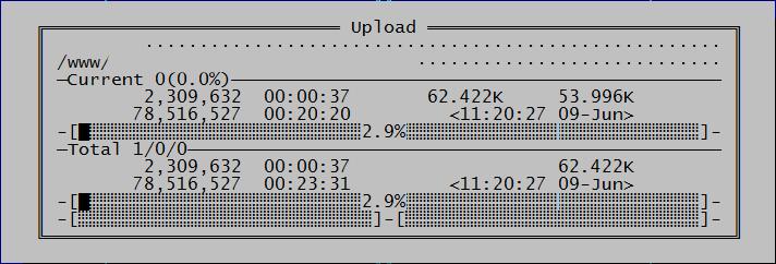 скорость закачивания по ftp