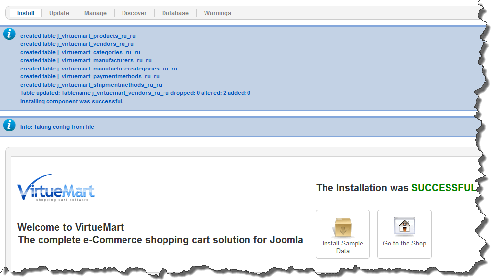 virtuemart-installation-success