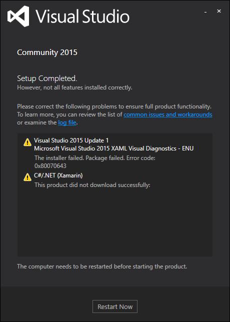 VS2015 Update 1