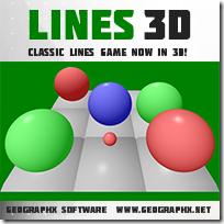 Игра Шарки (Линии) 3D